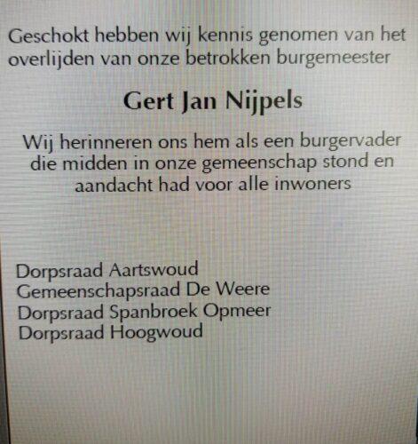 In memoriam Gert Jan Nijpels